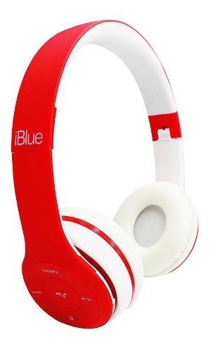 Audifono C/microf. Iblue Scream S019 Bluetooth/fm/ Rojo/blan