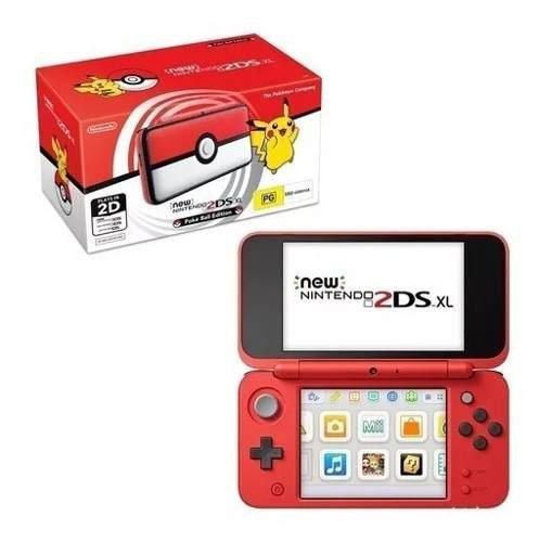 Nintendo 2ds Xl - Version Pokeball En Caja + 2 Juegos