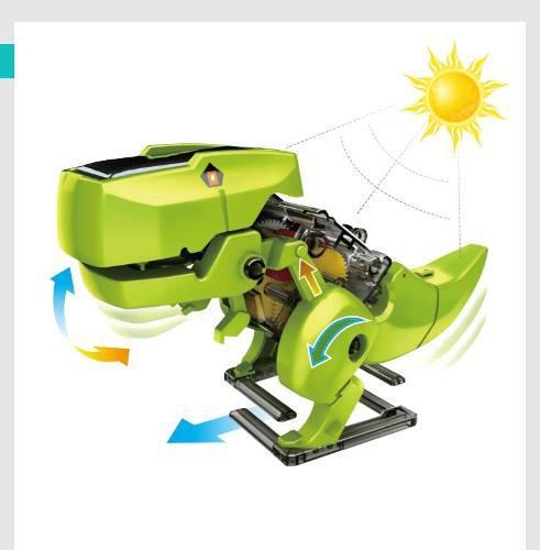Kit Robot Solar 4 En 1 Energía Solar Recargable Juguete