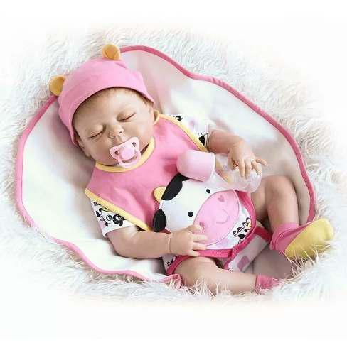 Muñecas Bebe Reborn 48 Cm Cuerpo Completo De Silicona Envio