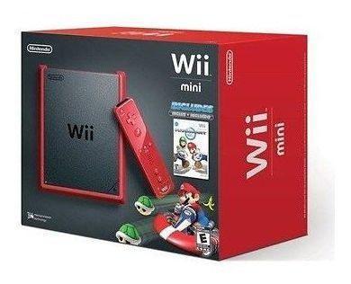 Nintendo Wii Mini System W/ Mario Kart - Red [nintendo Wii,