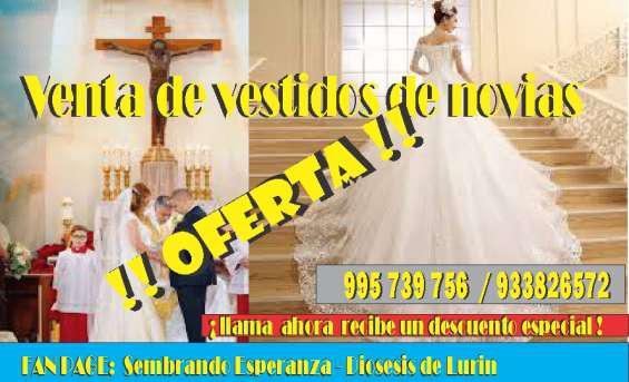Venta de vestidos e novia en Lima
