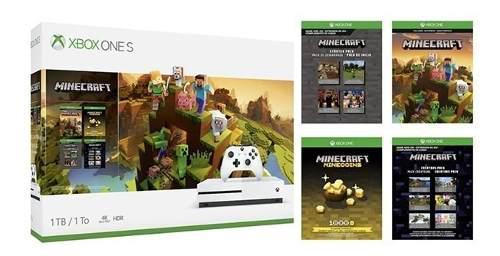Consola Microsoft Xbox One S 1tb Minecraft Creators Bundle