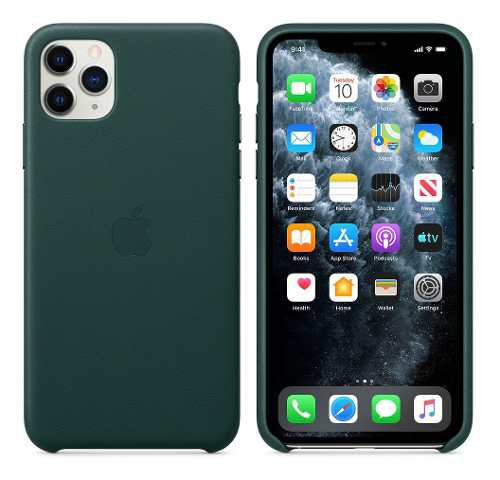 Apple Leather Case iPhone 11 Pro Max Funda De Cuero Genuino