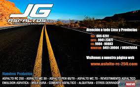 Jg asfaltos lider en comercializacion e instalacion de
