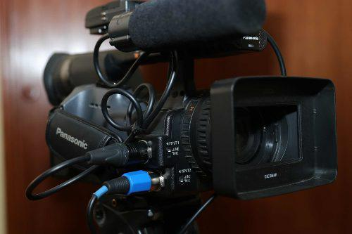 Cámara De Video Panasonic Ag 150p Graba En Sd Full Hd