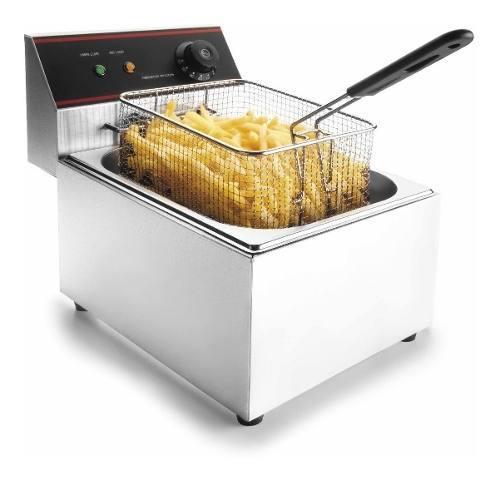 Freidora Electrica Acero Papa Frita Pollo Broaster 8 Litros