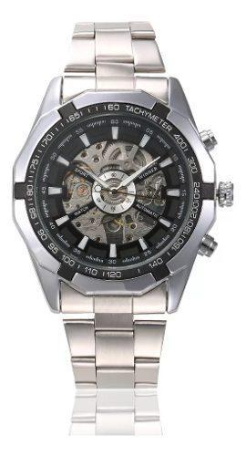 Reloj Mecánico Automático Skeleton Acero Inoxidable
