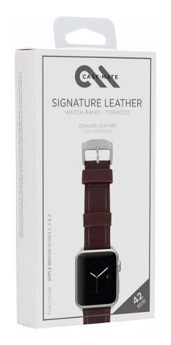 Correa De Cuero Genuino Case Mate Usa Apple Watch 42mm 44mm