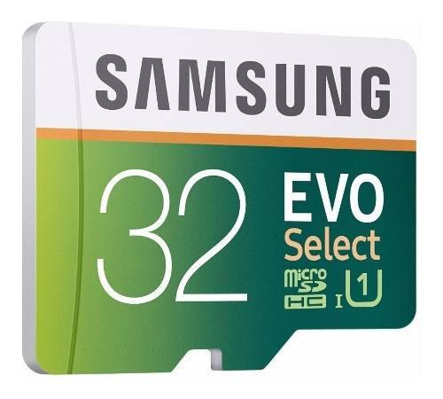 Memoria Micro Sd Samsung 32 Gb Evo Select Clase 10 Veloz