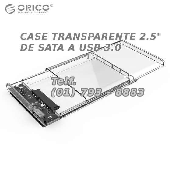 Case transparente adaptador de sata a usb 3.0 para discos
