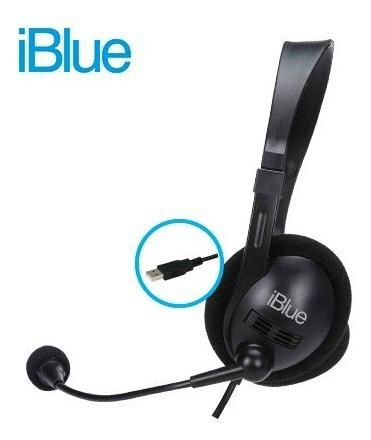 Audifono C/microf. Iblue Hs-3001bk Chat-link Usb Black
