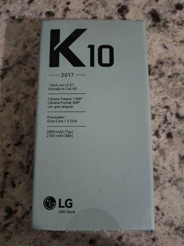 Lg K10 2017 (usado) Negro Con Adorno Color Dorado
