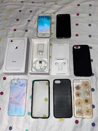 iPhone 8 De 64 Gb Con Accesorios Nuevos Y Estuches Spigen