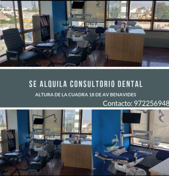 Alquiler de oficina para consuñtorio dental en Lima