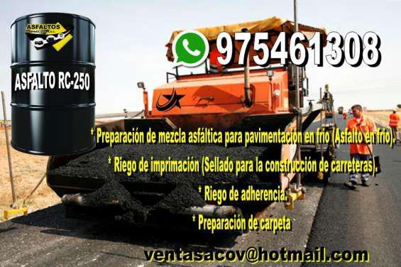 Venta de asfalto rc-250