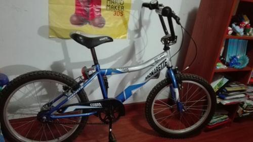 Bicicleta Monarette Aro 20 Azul C/negro