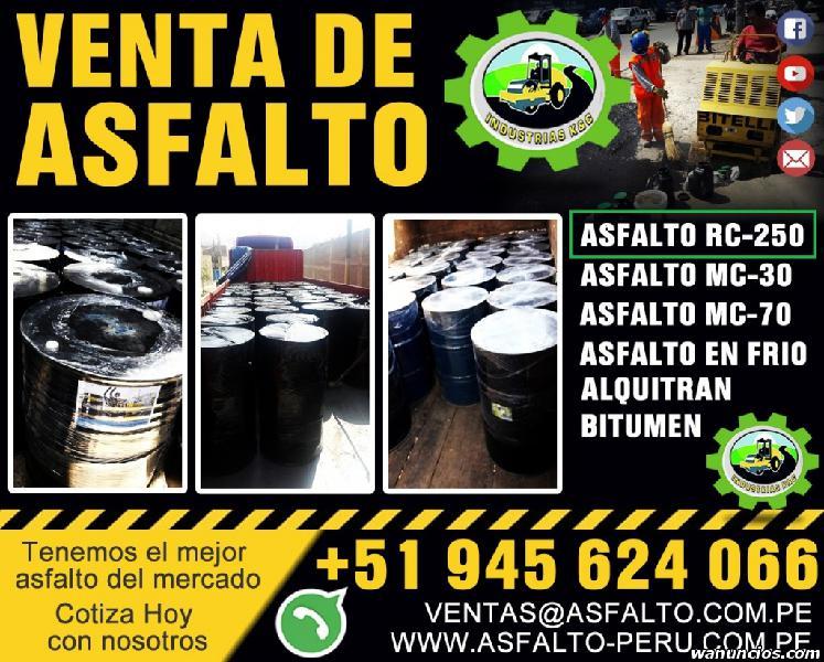VENTA DE ASFALTO RC 250 Y EMULSION ASFALTICA LENTA