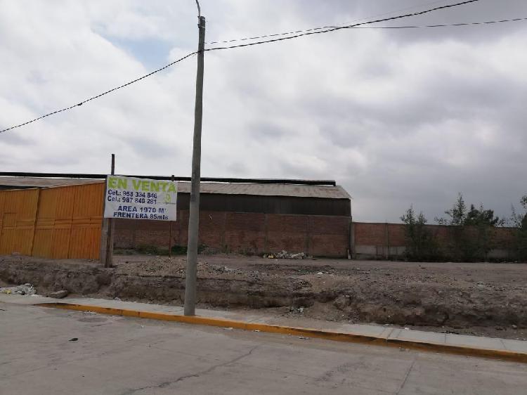 Vendo Terreno - Variante de Uchumayo - Al Costado del Taller