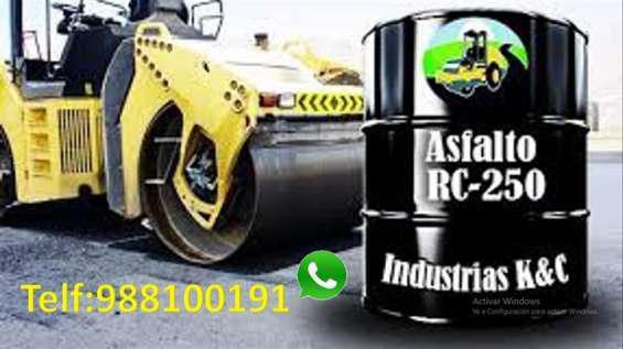 Venta de asfalto liquido rc 250 x balde de 5 glns en Pisco