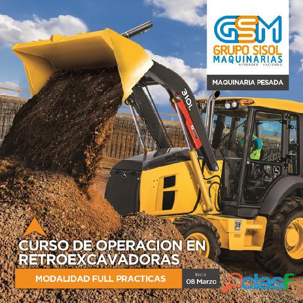 CURSO DE OPERADOR RETROEXCAVADORA