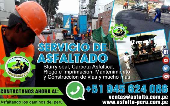 Venta de emulsion asfaltica lenta pedidos 988100191 en Lima