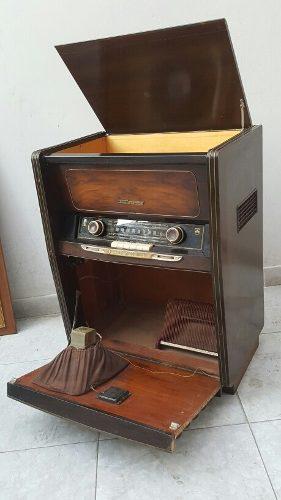 Antiguo Radio Grunding Radiogram 7062 Funciona