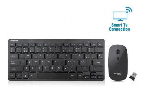 Kit Teclado + Mouse Inalambrico Wifi Smart Tv Mic Wt802