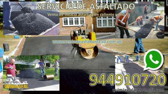 Venta de asfalto en lima en San Vicente de Cañete