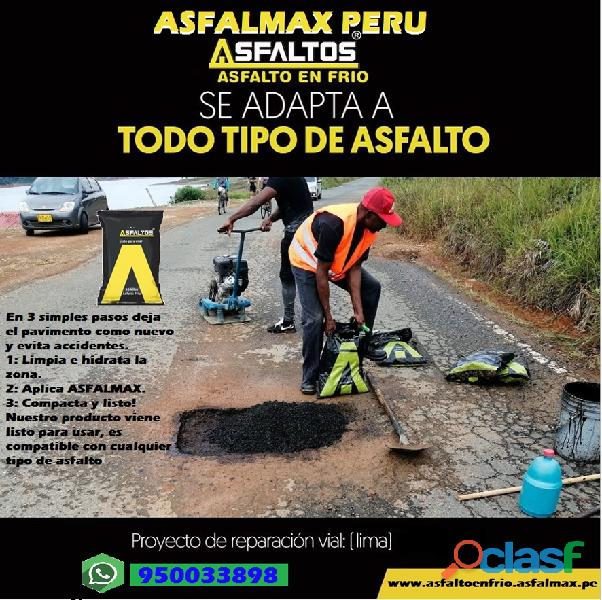 asfalto en frio venta a nivel nacional solicite su
