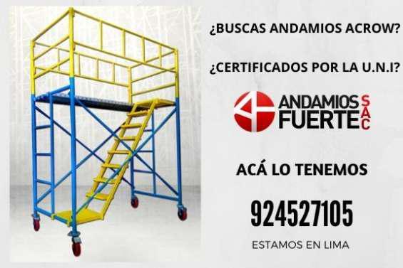 Andamios acrow certificado en Lima