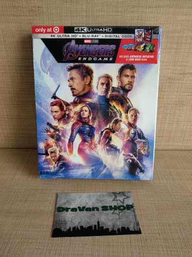 Endgame Avengers Blu Ray Película 4k Marvel Stock