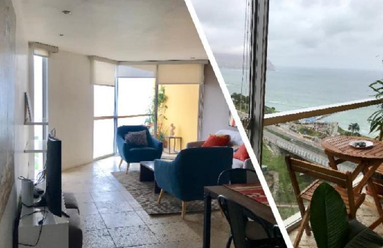 Alquilo Hermoso Departamento con Vista Al Mar en Miraflores