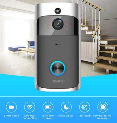 Timbre Camara Ip Intercomunicador Video Portero Hd 720p Wifi