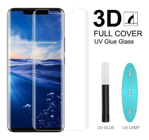 Mica Cristal Vidrio Templado Huawei Mate 20 Pro Con Luz Uv