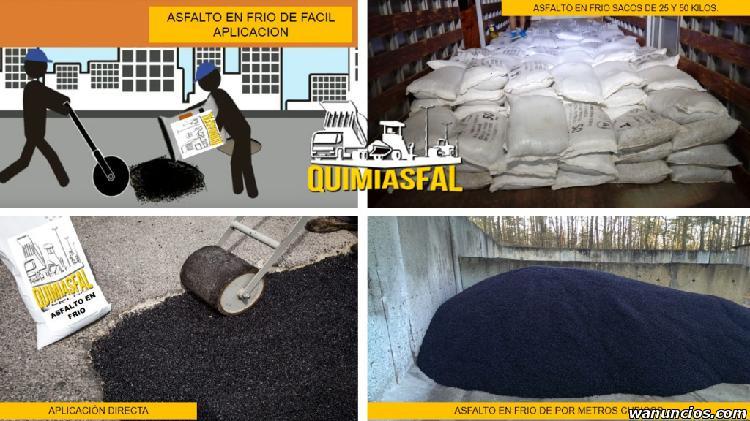 venta de asfalto en frio x sacos de 25 y 50 kilos y volquete
