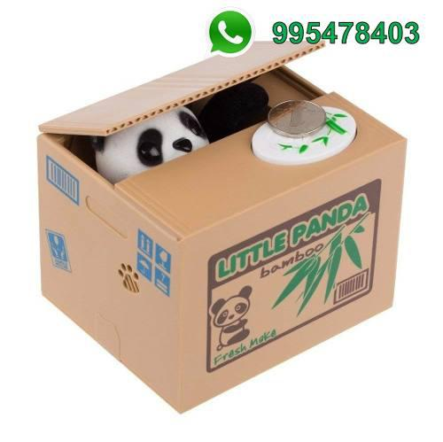 Alcancia Panda Roba Monedas Electrico Divertido
