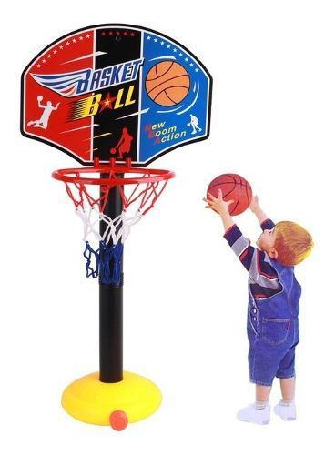Juego De Basket Para Niños Aro+parante+pelota+iinflador