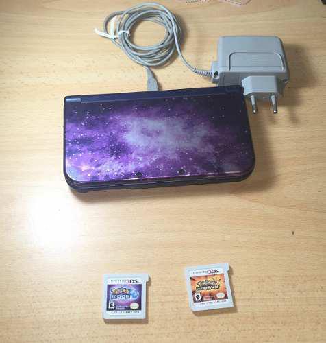 New Nintendo 3ds Xl Galaxy + Cargador + 2 Juegos