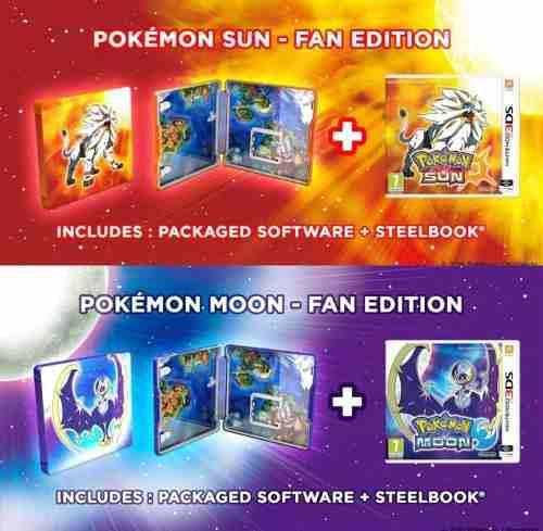 Pokemon Sol Sun Y Luna Moon Ed Steelbook Nuevo 3ds Pal (cgs)