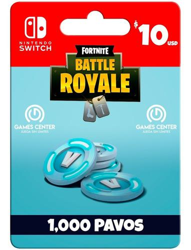 Fortnite 1000 Pavos Switch - Global - Gcp