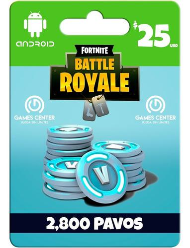 Fortnite 2800 Pavos Android - Ios - Global - Gcp