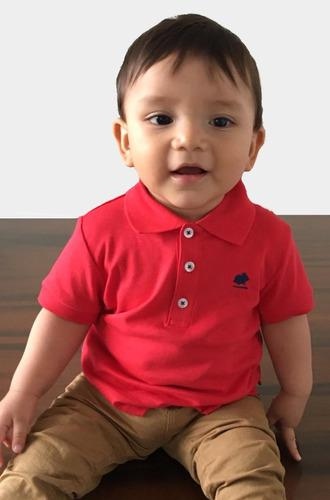 Polo Camisa Para Bebe En Algodón Pima De Exportación