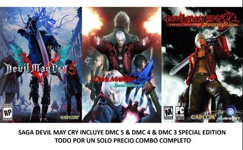 Saga Devil May Cry Special Edition Desde El 3 Al 5 Para Pc