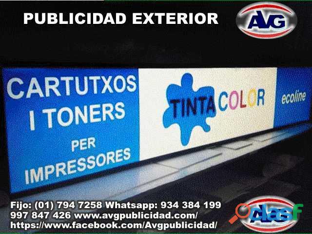 AVG Avisos luminosos Lima Perú PUBLICIDAD EXTERIOR , logos,