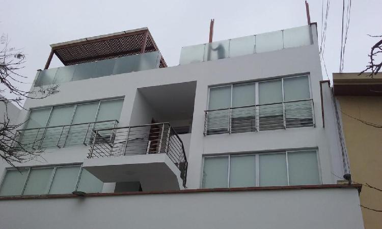 Alquiler Amplio Departamento Semi Amoblado - San Borja Sur