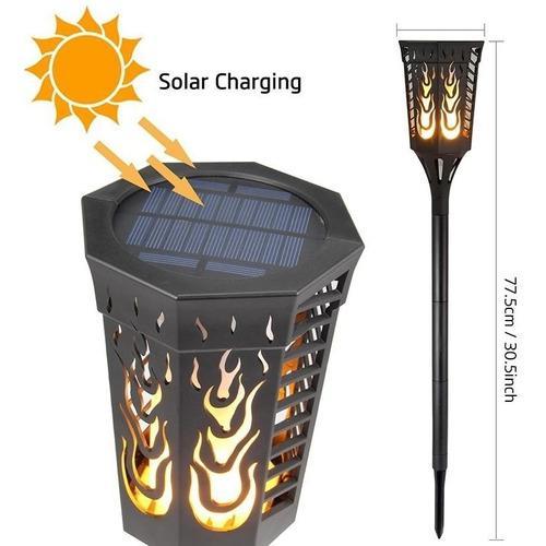 Antorcha Solar Para Jardín Con Llama De Luz Para Exterior