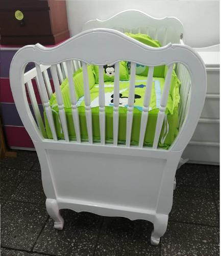 Cuna Para Bebes Al Duco Dos Niveles De Colchón M/ Bombe