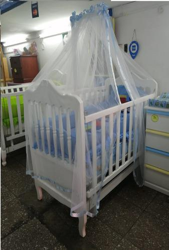 Cuna Para Bebes Al Duco Dos Niveles De Colchón M/ Kiavara