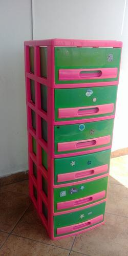 Mueble Cajonera Cómoda De Plástico Seis Pisos Niveles